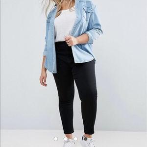 Plus size black skinny jeans with stretch NWT